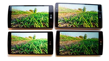 фото LG G4, LG G4s, LG G4c, LG G4 Stylus сравнение дисплеев