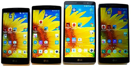 фото LG G4, LG G4S, LG G4c, LG G4 Stylus сравнение