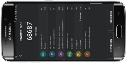 фото Samsung S6 Edge+ 32Gb тест AnTuTu