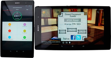 фото Sony Xperia Z3 Tablet Compact тест AnTuTu и FPS